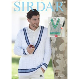 S8126 Sweater & Tank Top for Men/Boys in Sirdar No.1 DK