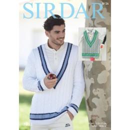 S8126 Sweater & Tank Top for Men/Boys in Sirdar No.1 DK
