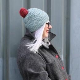 Baa Ram Ewe Sea Holly Hat in Pip Colourwork