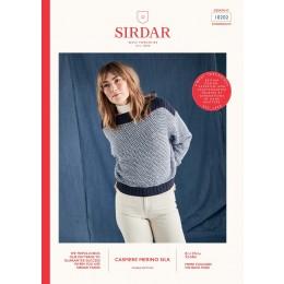 S10202 Ladies Wide Neck Batwing Sweater in Sirdar Cashmere Merino Silk DK