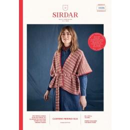 S10206 Women's Wrap Stepped Hem Cardigan in Sirdar Cashmere Merino Silk DK