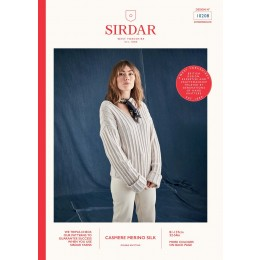 S10208 Women's Ribbed Hoodie in Sirdar Cashmere Merino Silk DK
