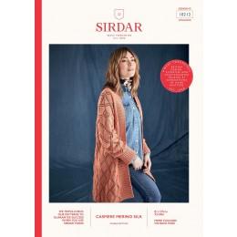 S10212 Women's Diamond Trellis Cardigan in Sirdar Cashmere Merino Silk DK