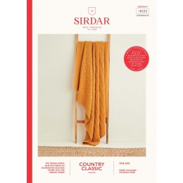 S10232 Diamond Textured Blanket in Sirdar Country Classic Worsted