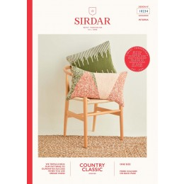 S10234 Swiss Darned & Intarsia Cushions in Sirdar Country Classic Worsted