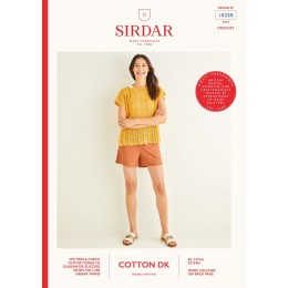 S10250 Ladies Crochet Chevron Top in Sirdar Cotton DK