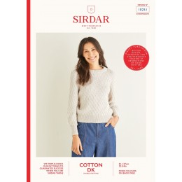S10251 Diagonal Wave Stitch Sweater in Sirdar Cotton DK