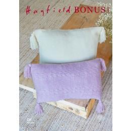 S10263 Wild Oats & Plaited Basket Stitch Cushions in Hayfield Bonus DK