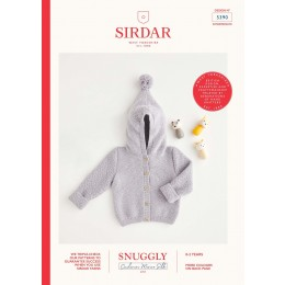 S5390 Baby's Pixie Hood Jacket in Snuggly Cashmere Merino Silk 4 Ply