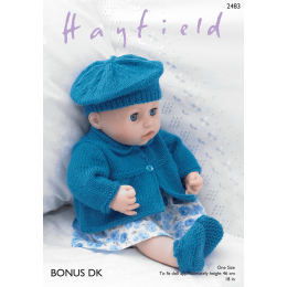 S2483 Jacket, Beret, Shoes and Pants in Hayfield Bonus DK
