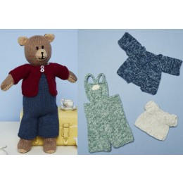 St9670 Knitted Bruno the Bear Toy in Stylecraft Bellissima & Batik DK