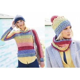St9676 Woman's Sweater, Snood & Hat in Stylecraft Batik Swirl DK