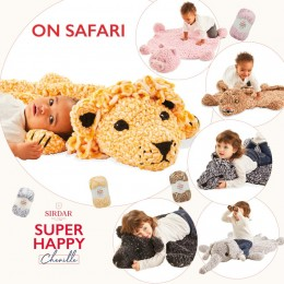 Sirdar Super Happy Chenille 'On Safari' Children's Rug Kit