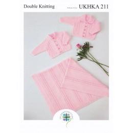 UKHKA211 Cardigans & Blanket for Babies  in DK