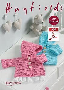 Hayfield baby crochet cardigan