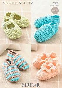 crochet baby booties sirdar