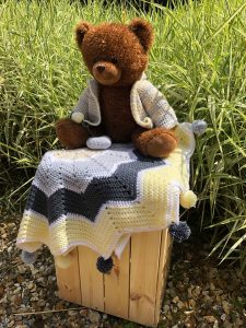 the crafting cow star blanket